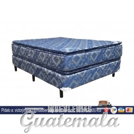 Cama Jackard Doble Pillow Matrimonial