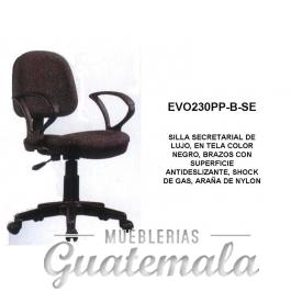 Silla Secretarial de Lujo Color Negro 7332-00036