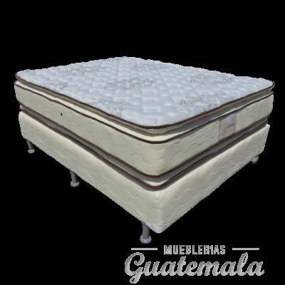 Cama ORTOPEDICA Doble Pillow Top de Lujo PIQUE -Queen Size