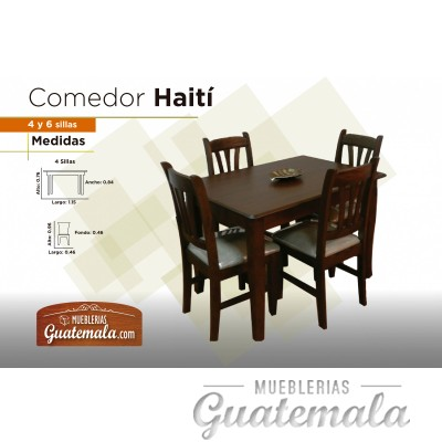 Comedor Haiti recatangular 4P