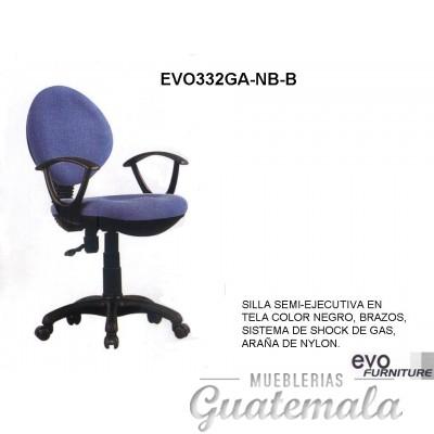 Silla Semi Ejecutiva en Tela Color Negro 7332-00030