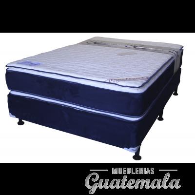 Cama ORTOPEDICA Doble Pillow Top de Lujo PIQUE -Semi Matrimonial
