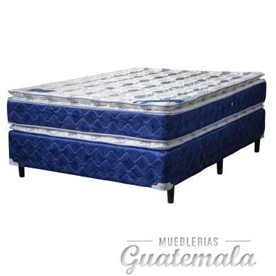 Doble Pillow Top Semi Ortopedica Matrimonial