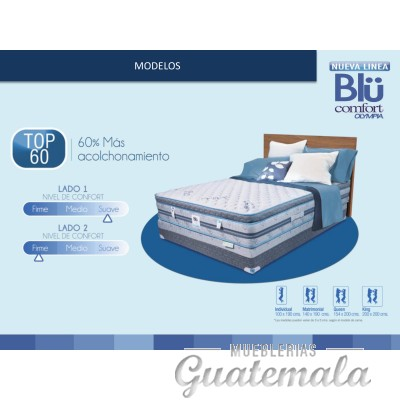 Cama Blucomfort Top 60 - Queen Size Olympia