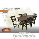 Comedor Taipei de 6 sillas Top Madera 7329-00088
