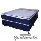 Cama ORTOPEDICA Doble Pillow Top de Lujo PIQUE -Semi Matrimonial