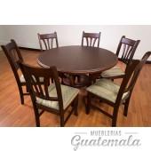 Comedor Haití de 6 sillas redondo