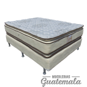 Cama ORTOPEDICA Doble Pillow Top de Lujo PIQUE -Queen Size
