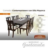 Comedor Contemporaneo c/8 silla mayorca
