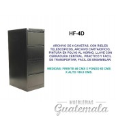 Archivo de Cuatro Gabetas 7332-00090