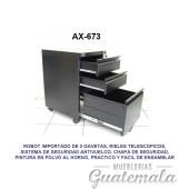 Archivo Tipo Robot  de Tres Gabetas 7332-00093