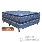 Cama ORTOPEDICA Doble Pillow Top  JACKARD -Semi Matrimonial