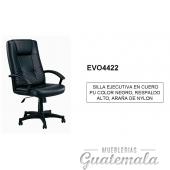 Silla Ejecutiva en Cuero Negro Color PU 7332-00011